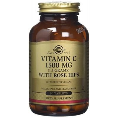 Vitamina C 1500 Mg con Escaramujo ROSE HIPS de Solgar SOLGAR  Inicio salud.bio