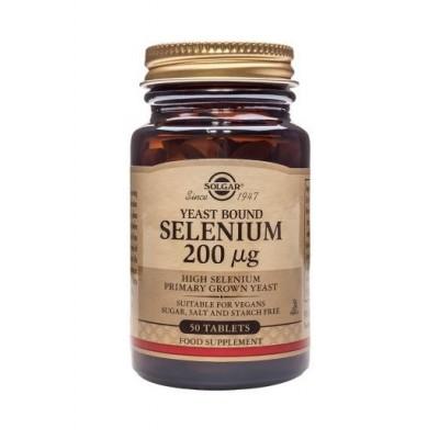 Selenio 200 µg (Sin levadura) en Comprimidos de Solgar SOLGAR  Vitaminas y Minerales salud.bio