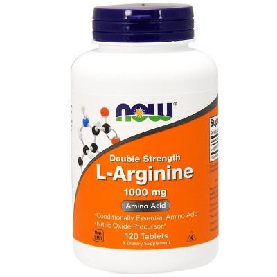 L-arginina, 1000 mg de Now Foods now suplementos NOW-00035 Aminoácidos salud.bio