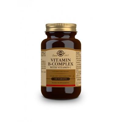 Vitaminas B Complex con Vitamina C, en comprimidos de Solgar SOLGAR 90 Inicio salud.bio