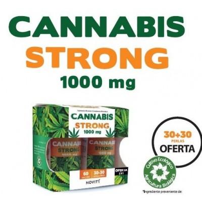 Novity Cannabis Strong 1000mg 30 + 30 cápsulas Novity de Diedmed Dietmed 9999000000296 Plantas Medicinales salud.bio