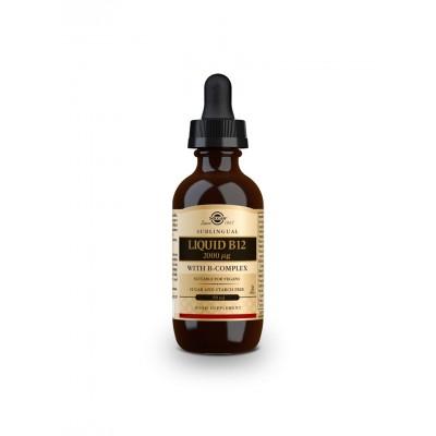Vitamina B12 Líquida con B-Complex 2000 µg - 59 ml de Solgar SOLGAR 061595 Vitamina B salud.bio
