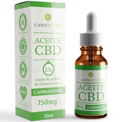 Aceite de Cañamo 2.5% CBD 30ml de Cannactiva Cannactiva Aceite 2.5% 30ml Plantas Medicinales salud.bio