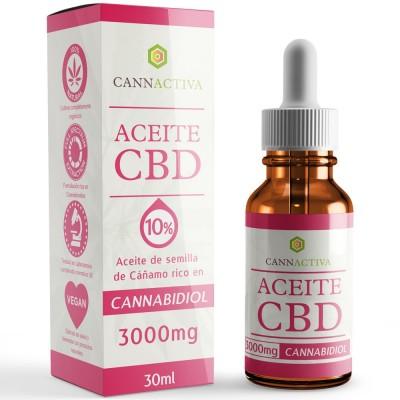 Aceite de Cañamo 10% CBD 30 ml de Cannactiva Cannactiva Aceite 10% 30ml Plantas Medicinales salud.bio