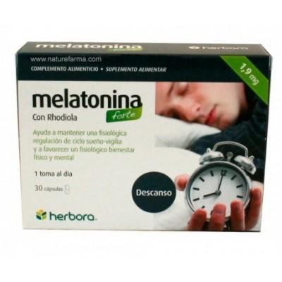 Melatonina FORTE con Rhodiola 30 Capsulas de herbora Herbora 501018 insomnio y descanso salud.bio