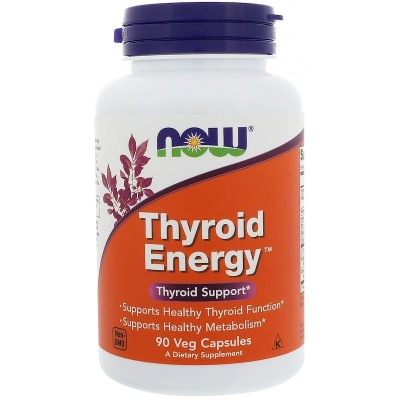 Energia tiroidea, cápsulas vegetales de Now Foods NatraBio  Tiroides salud.bio