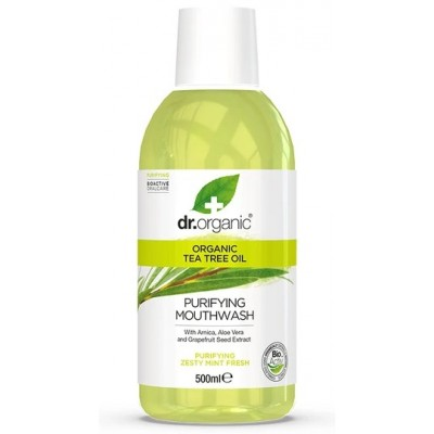 Enjuague bucal de árbol de té 500ml de Dr. Organic Doctor Organic DR00154 Dentrificos , Pasta de Dientes salud.bio