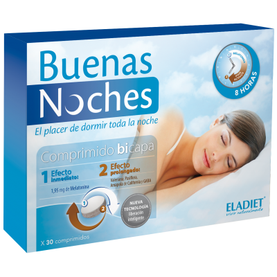 Buenas Noches 30 Comp de Eladiet ELADIET Elaborados Dieteticos, s.a. PA.SUE.BNO.17 insomnio y descanso salud.bio