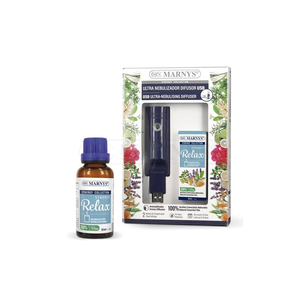 Combo USB Ultra nebulizador + Synergy Relax de Marnys Marnys COMBOAA995AE199 Aromaterápia salud.bio