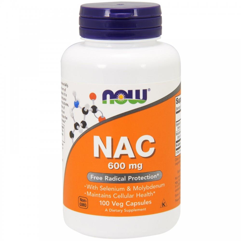 NAC, N-Acetil-Cisteína 600mg de Now Foods now suplementos  Complementos Alimenticios (Suplementos nutricionales) salud.bio