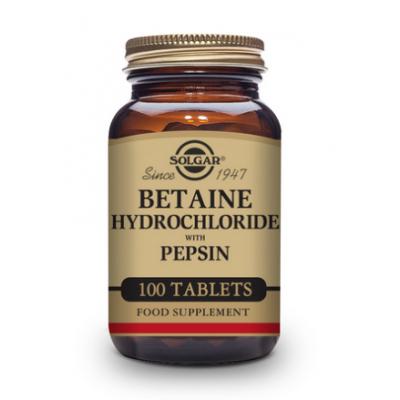 Betaína Clorhidrato con Pepsina de Solgar SOLGAR 120240 Ayudas aparato Digestivo salud.bio