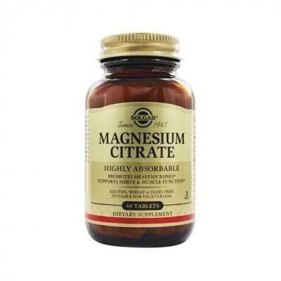 Citrato de Magnesio en Comprimidos de Solgar SOLGAR  Inicio salud.bio