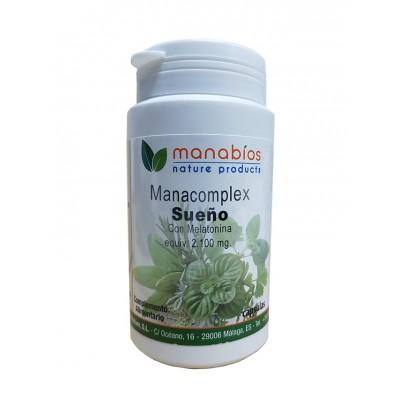 ManaComplex Sueño con Melatonina 60 Cápsulas Manabios 111902 insomnio y descanso salud.bio