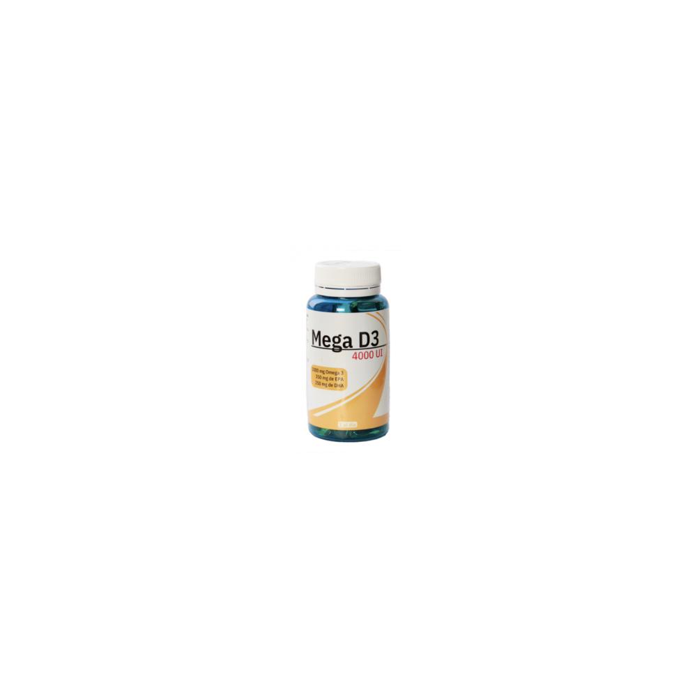 Mega D3 4000iU 1000mg Omega3 350mg EPA 250mg DHA de Spadiet Espa-Diet, s.l. 0010169 Vitaminas y Minerales salud.bio