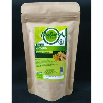 Jengibre en polvo BIO de Natura Premium - Super Alimentos Stevia Premium  Super Alimentos salud.bio