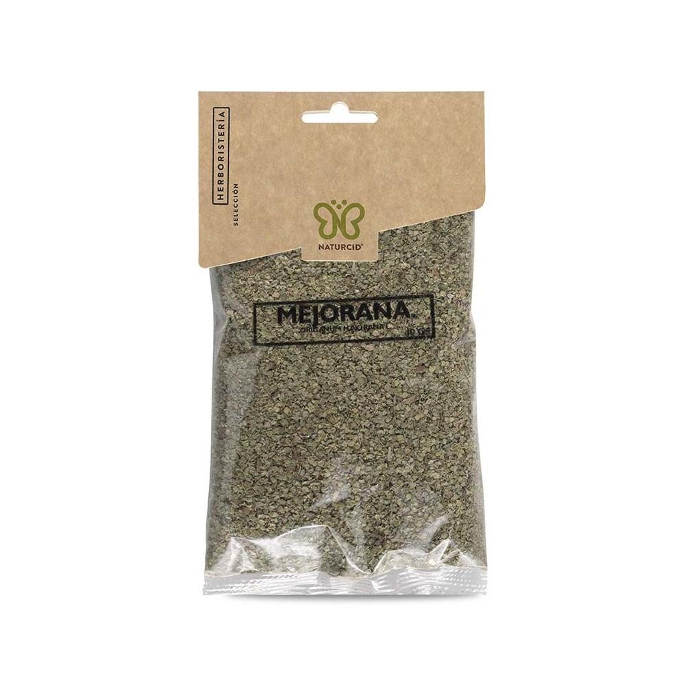 Mejorana hoja entera empaquetada 50g planta en paquete de Naturcid Naturcid S.L. 14040 Plantas Medicinales salud.bio