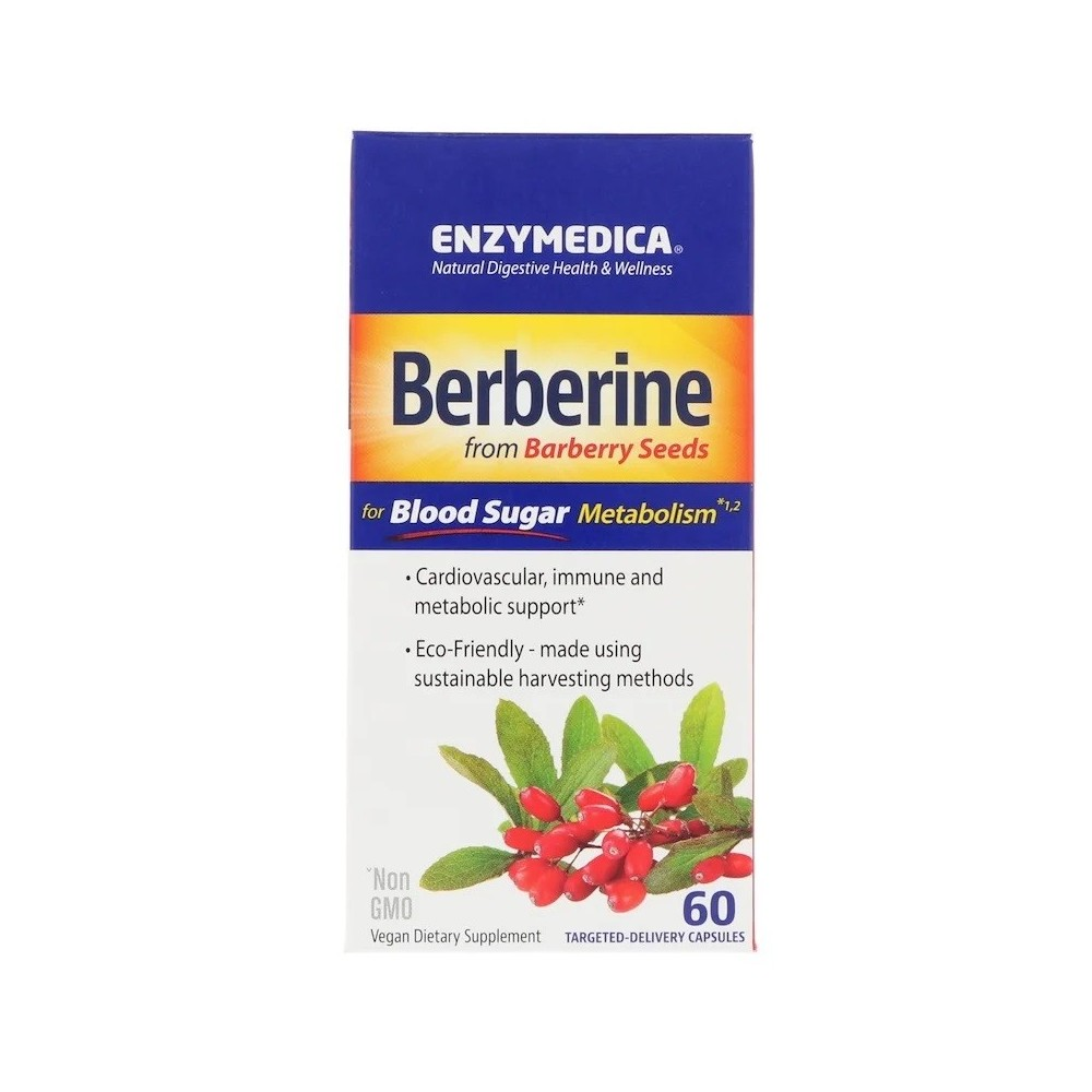 Berberine (Barberry) en 60 cápsulas de Enzymedica Paradise ENZ-10083 Ayuda Glucemia y Diabetes salud.bio