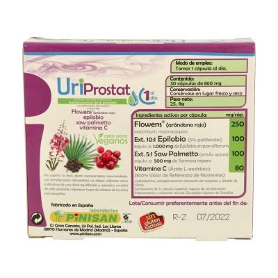 UriProstat (ayuda funcion normal prostata) de Pinisan Pinisan 106.00155 Bienestar urinario. Ayuda en el bienestar urinario. s...