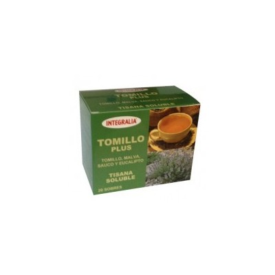 Tomillo Plus Tisana soluble 20 sobres de integralia INTEGRALIA 294 Infusiones salud.bio