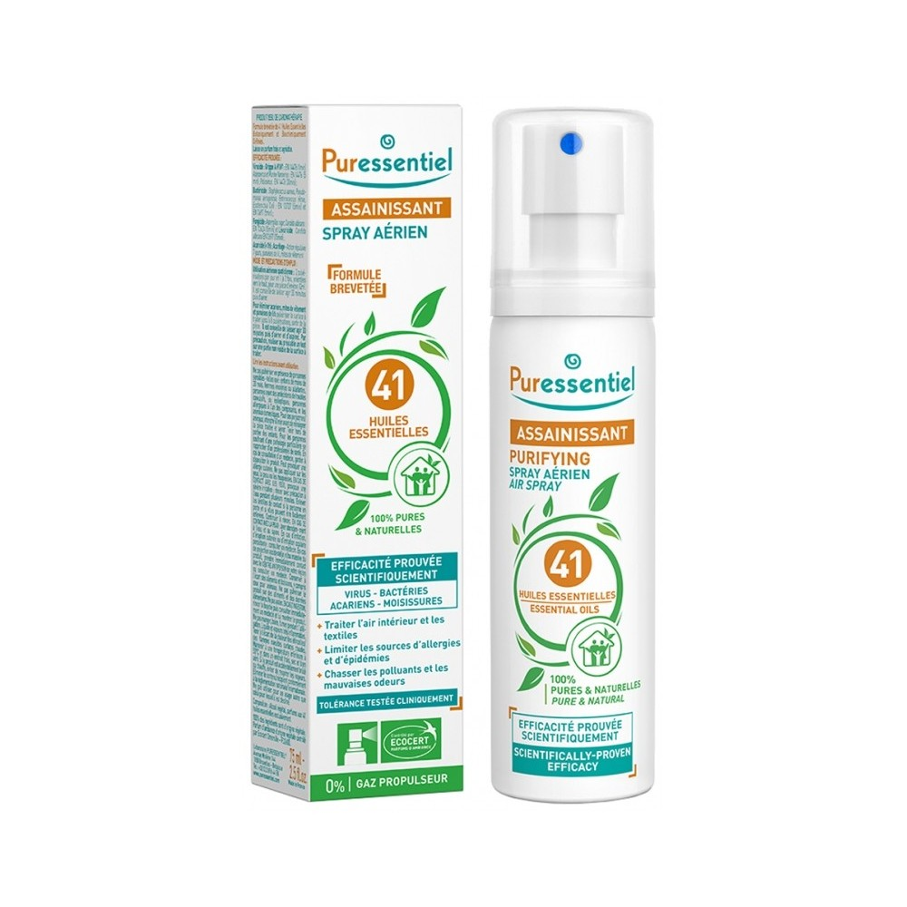 Spray Purificante con 41 Aceites Esenciales de Puressentiel  Puressentiel Laboratorios  1432 Aromaterápia salud.bio