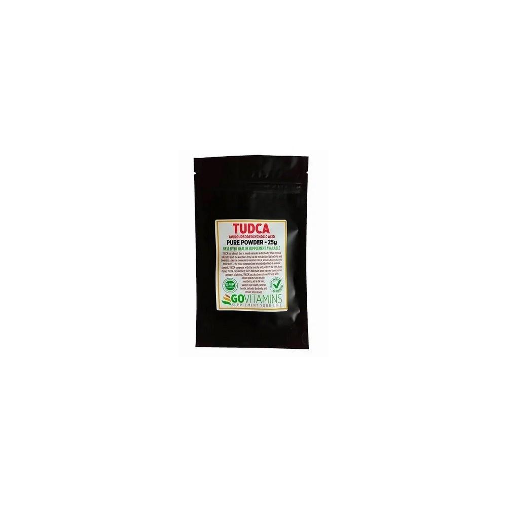 Tudca 25g, acido tauroursodesossicolico, en Polvo de GoVitamins  1437 Higado y sistema hepatobiliar salud.bio