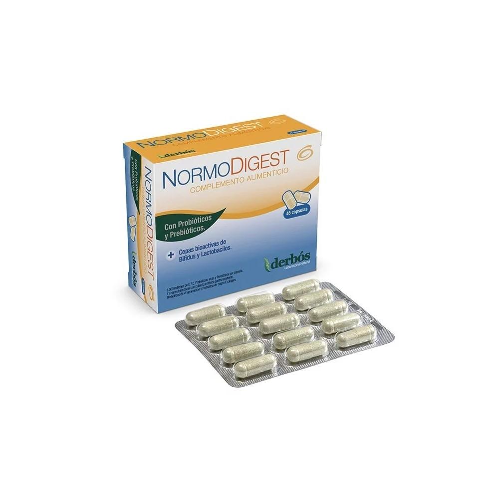 Normodigest 45 cápsulas de derbós derbós laboratorio natural 126 Ayudas aparato Digestivo salud.bio