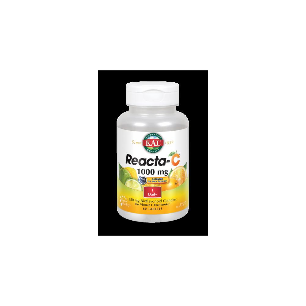 Reacta C™ 1000 mg-60 comprimidos. Apto para veganos de Kal SOLARAY 74880 Vitamina C salud.bio