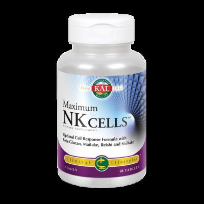 Maximum NK Cells- 60 Comprimidos Rapidsolv® Sin gluten Apto para veganos de Solaray SOLARAY 10024 Sistema inmunitario salud.bio