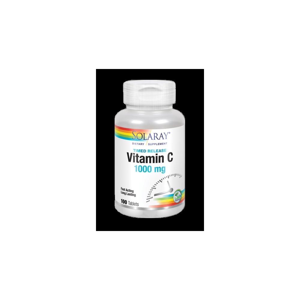 Vitamina C, 1000 mg, 100 Comprimidos de Solaray SOLARAY 4453 Vitamina C salud.bio
