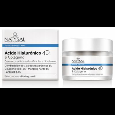Crema Ácido Hialurónico 4D & Colágeno de Natysal Natysal 13605 Cosmética Natural salud.bio