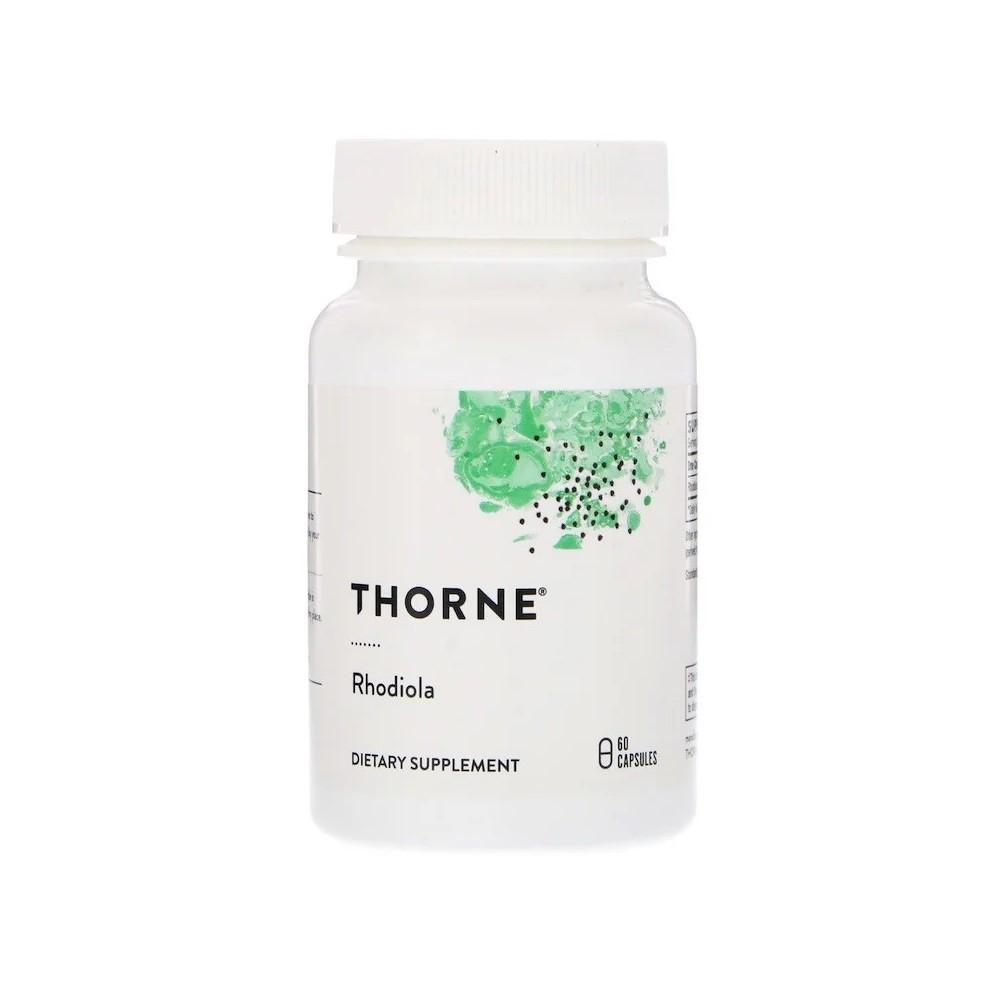 Rhodiola, 60 cápsulas veganas de Thorne Research now suplementos THR-75502 Estados emocionales, ansiedad, estrés, depresión, ...