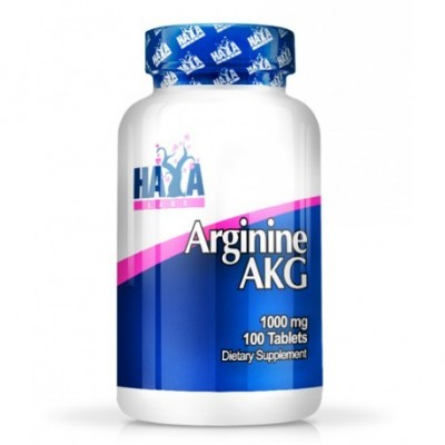Arginina AKG 1000 mg - 100 Tabletas de Haya labs Haya Labs LLC 15525 Aminoácidos salud.bio