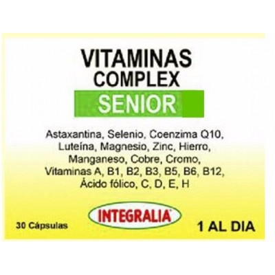 Vitaminas Complex Senior 30 Capsulas de Integralia INTEGRALIA 467 Vitaminas y Minerales salud.bio