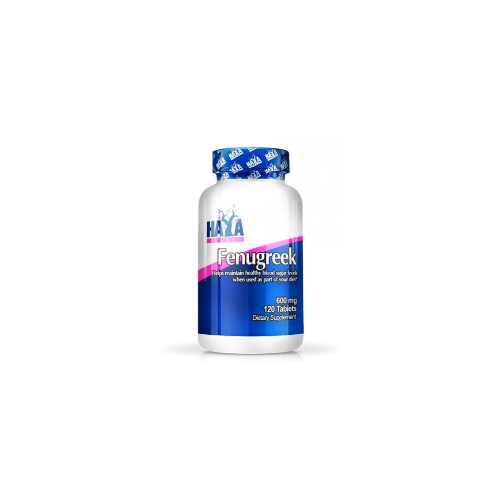 Fenogreco (Fenugreek Alholvas) 600 mg - 120 Tabs de Haya labs Haya Labs LLC 15400 Ayuda Glucemia y Diabetes salud.bio