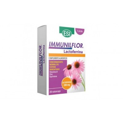 Immunilflor Lactoferrina (20 Naturcaps) de ESI ESI LABORATORIOS 13010160 Sistema inmunitario salud.bio