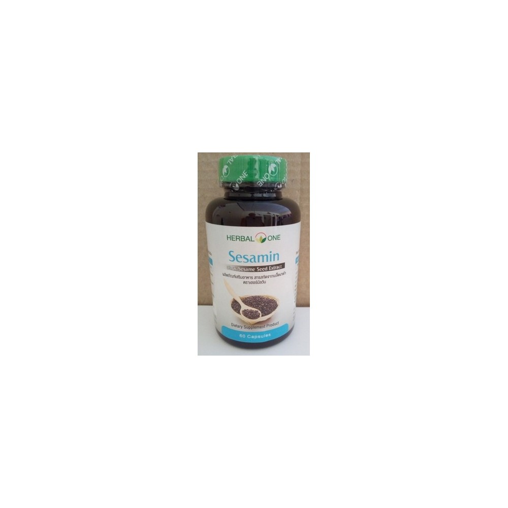 Sésamo negro 60 cápsulas de extracto rico en antioxidantes Herbal One 8853353301810 Plantas Medicinales salud.bio