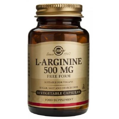 L-Arginina 500 mg. (50) cápsula vegeral de Solgar SOLGAR 010140 Inicio salud.bio