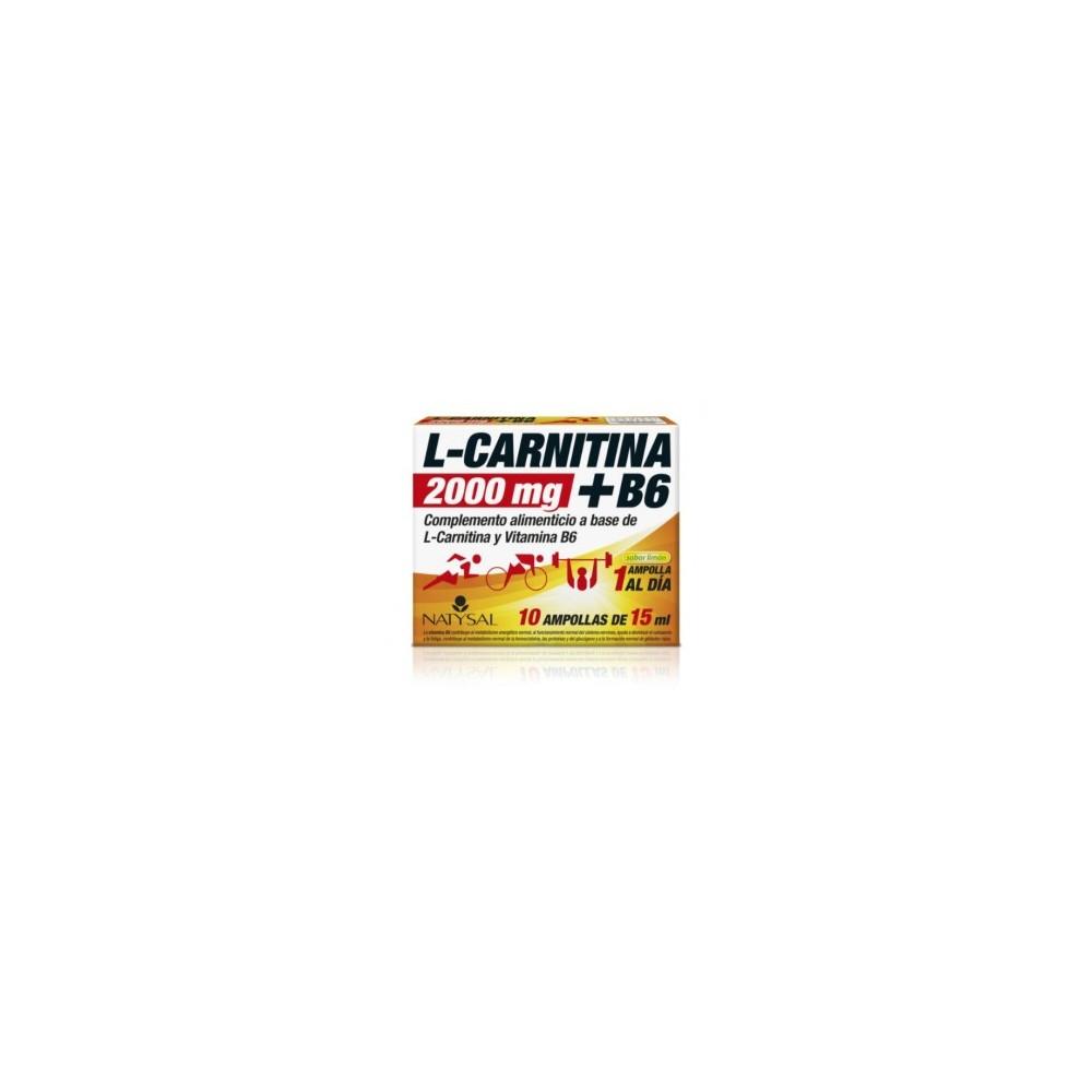 L-Carnitina 200mg + Vitamina B6 de Natysal Natysal 13518 Quemagrasas y similares salud.bio