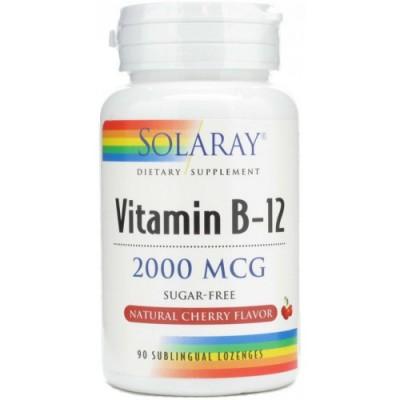 Solaray Vitamina B12 2000µg 90 comprimidos sublinguales SOLARAY 076280043501 Inicio salud.bio