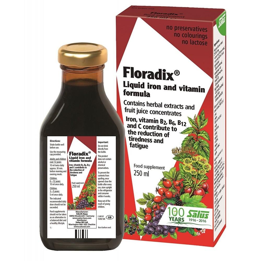 Salus Floradix Hierro + Vitaminas en Jarabe Salus Floradix España, S. L. 0140035180 Inicio salud.bio