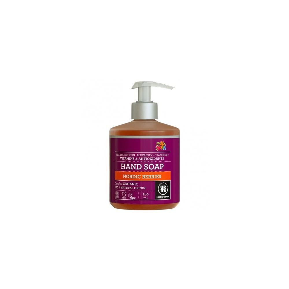 Jabón manos frutos rojos Urtekram 380 ml  Urtekram  0071011569 Cuidado externo e higiene salud.bio