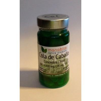 Cola de Caballo Concentracón máxima 4.000 mg, 48 cápsulas de Manabios Manabios 111204 Drenantes y Diureticos salud.bio