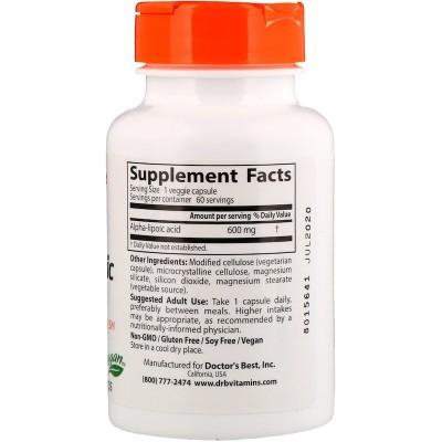 Acido Alfa Lipoico de Doctor's Best DOCTOR'S BEST  Complementos Alimenticios (Suplementos nutricionales) salud.bio