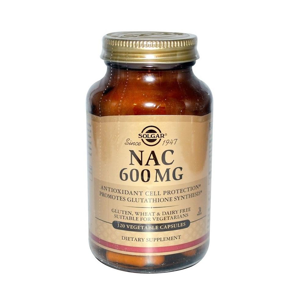 NAC 600mg 120 cápsulas vegetales de Solgar SOLGAR SOL-01792 Antioxidantes salud.bio