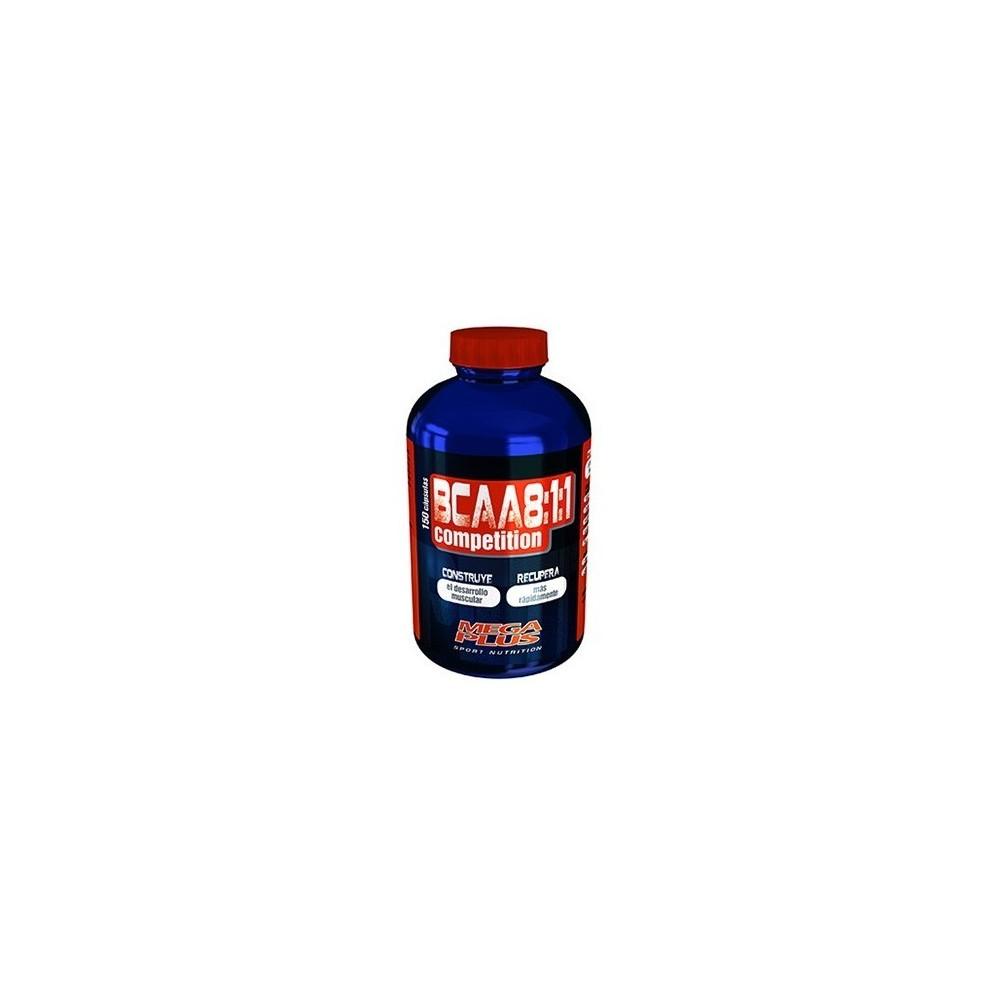 BCAA 8:1:1 COMPETITON - 150 Cápsulas Megaplus 132011 Proteinas salud.bio