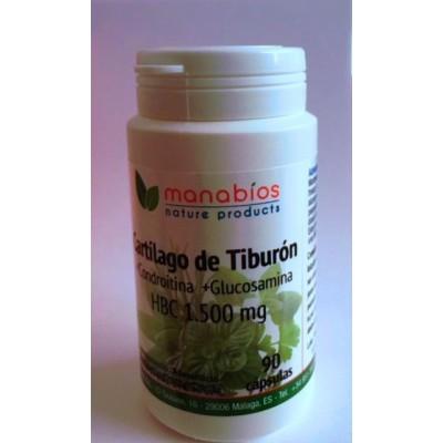 Cartilago de Tiburón + Condroitina + Glucosamina HBC 1500mg de Manabíos Manabios 111534 Articulaciones, Huesos, Tendones y Mu...
