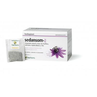 Sedansom-2 de Herbora Herboplant 20 filtros-infusión Herbora 502104 insomnio y descanso salud.bio
