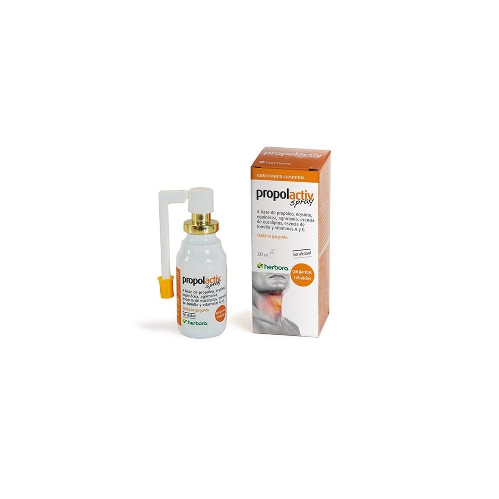 Propolactiv spray 30ml de Herbora Herbora 501024 Acción benéfica garganta y pecho salud.bio