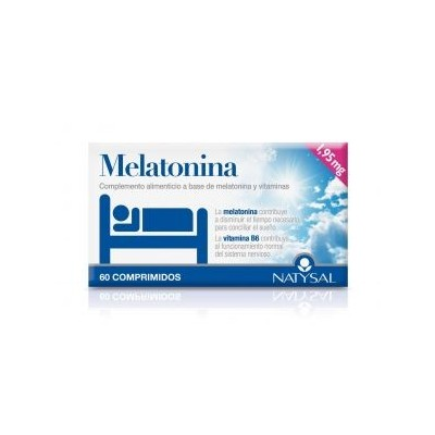 Melatonina 1.95mg + Vitamina B-6 (60 Comprimidos Masticables) de Natysal Natysal 13340 insomnio y descanso salud.bio