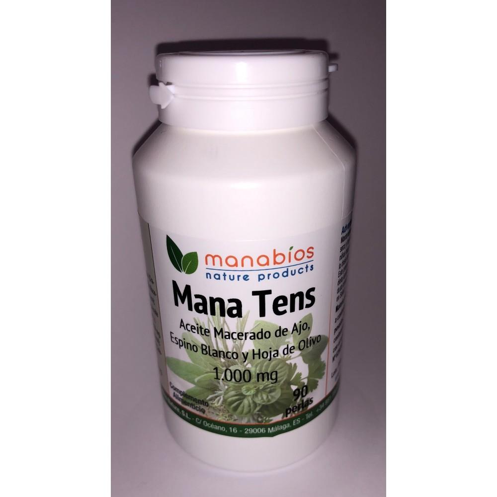 Mana Tens (Ajo+Espino blanco+Hoja de Olivo) de Manabios Manabios  Ayuda control Tension salud.bio